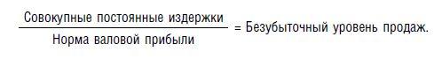 Формула расчета в натуральном выражении