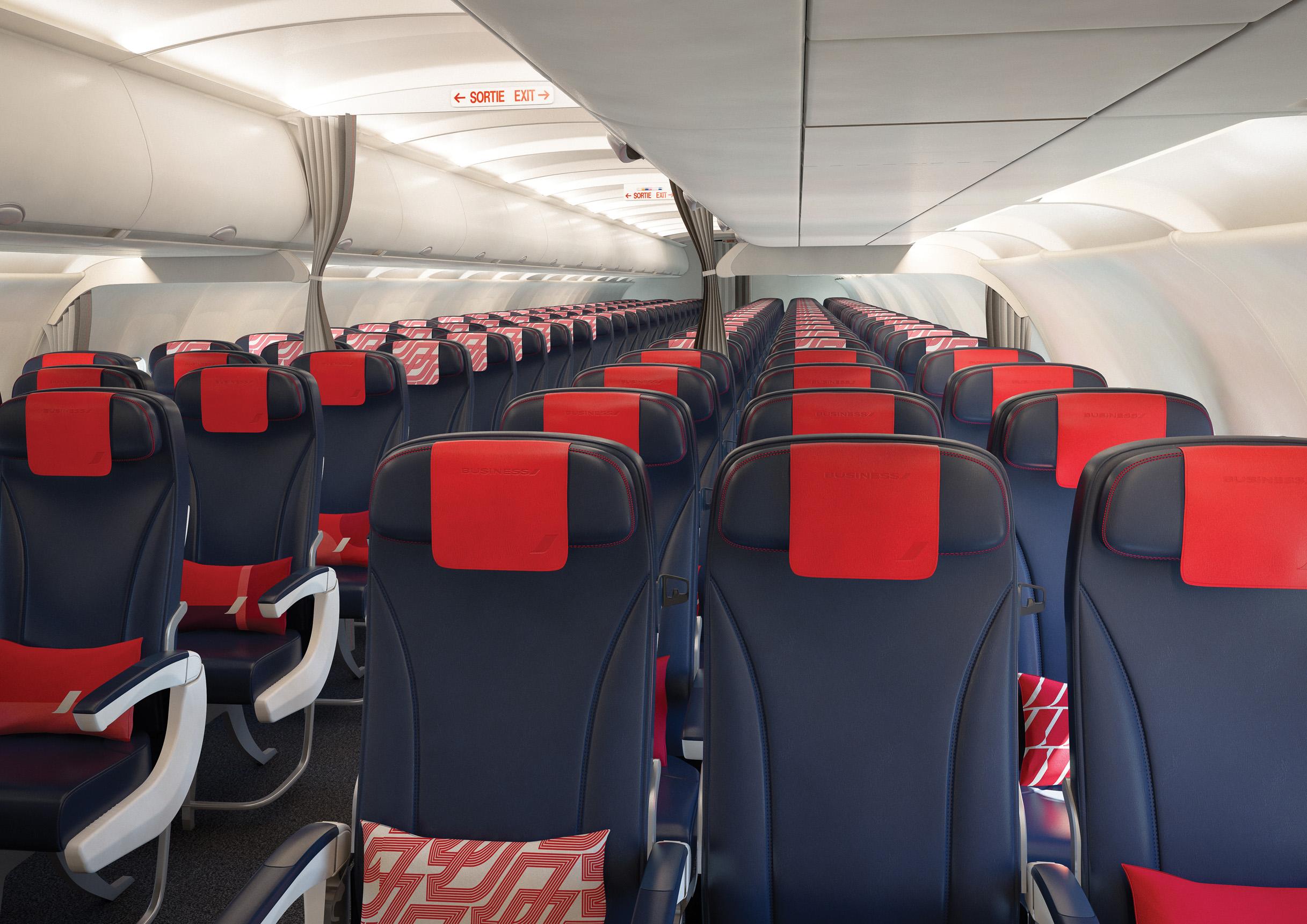 Новая кабина Air France на среднемагистральных рейсах